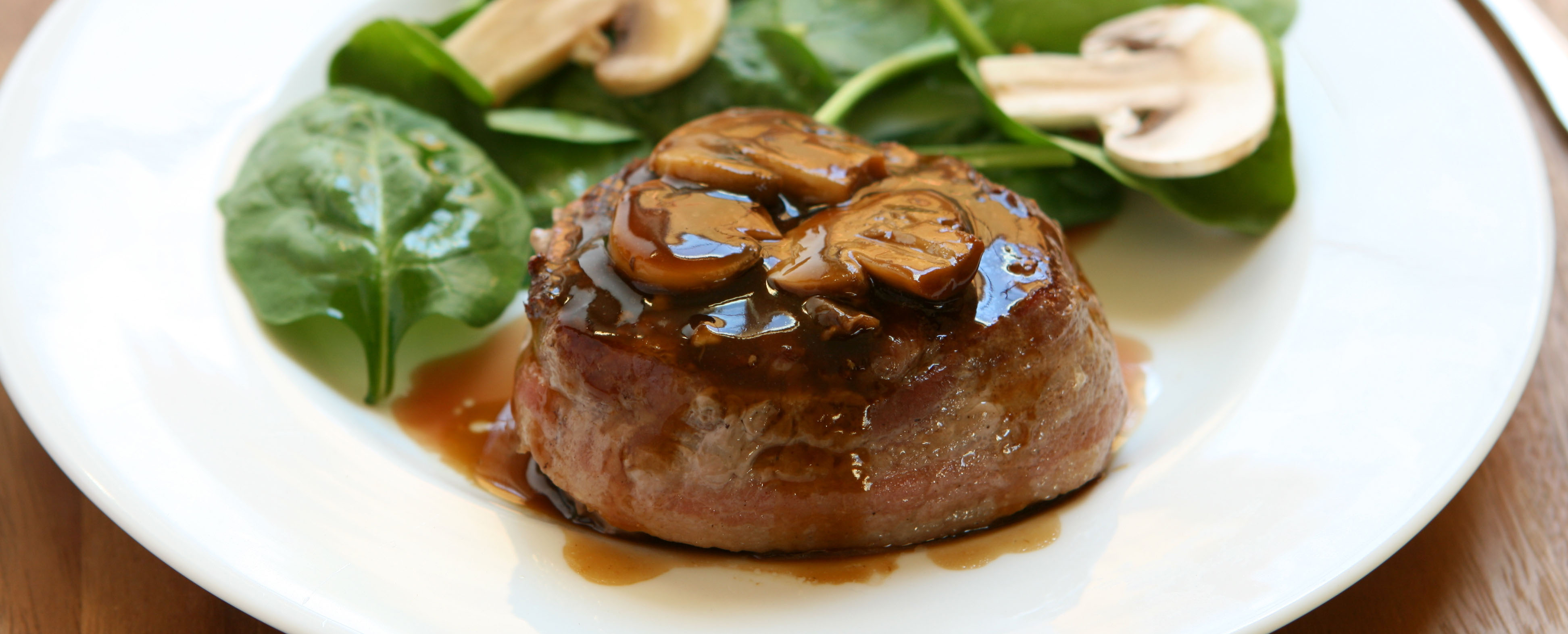 Beef Tenderloin with Mushroom Wine Sauce