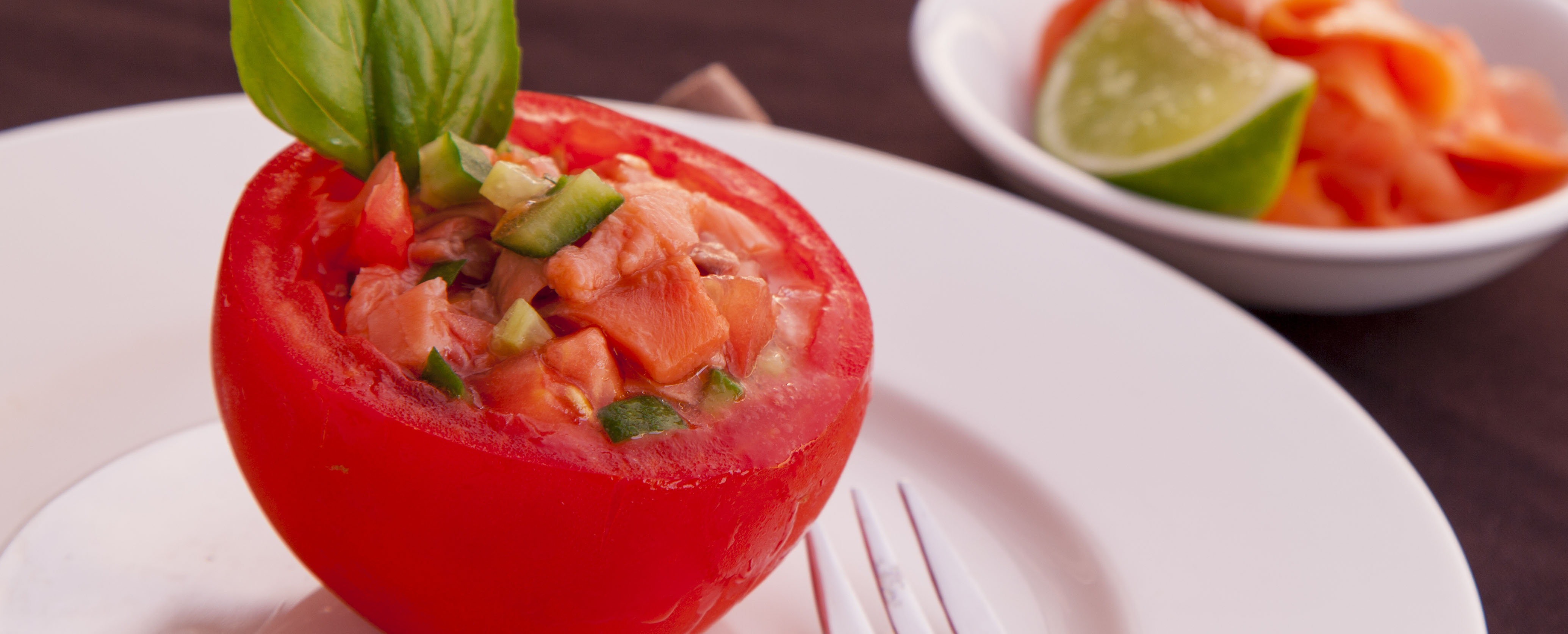 Salmon Stuffed Tomatoes