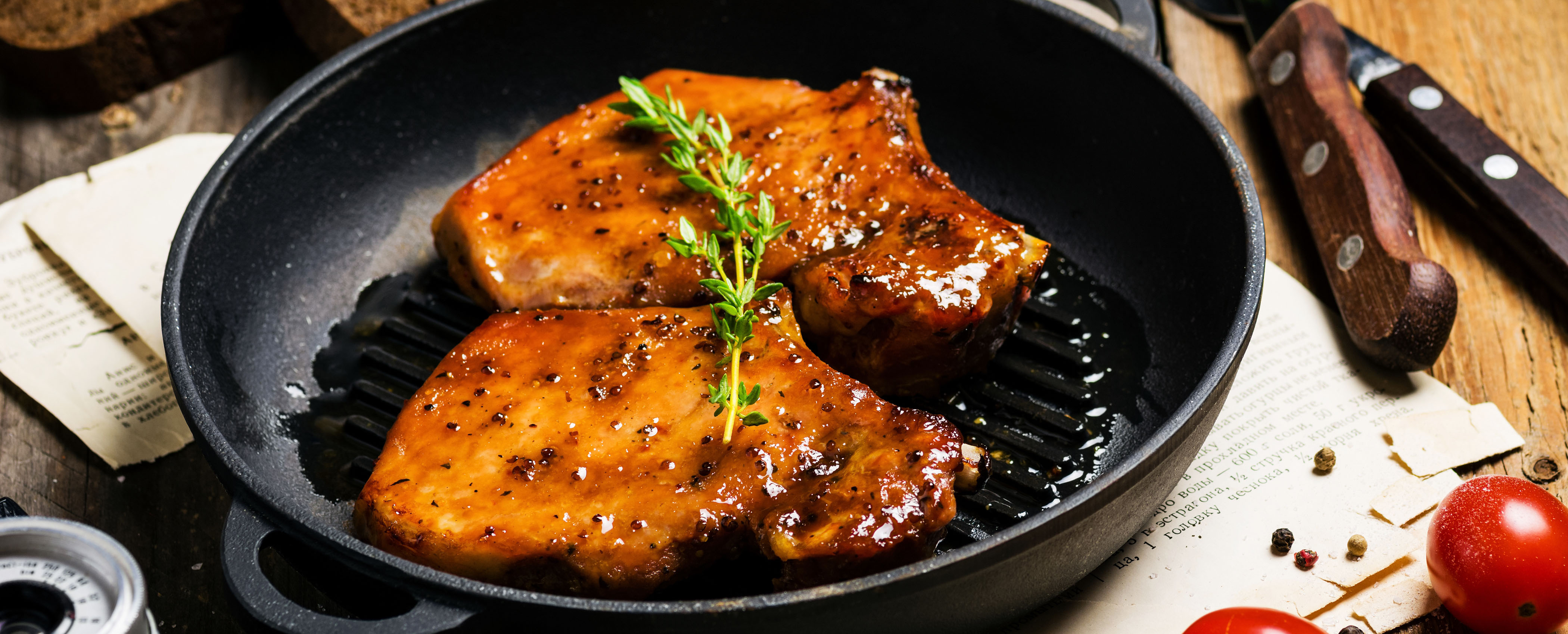 Tangy Glazed Pork Chop
